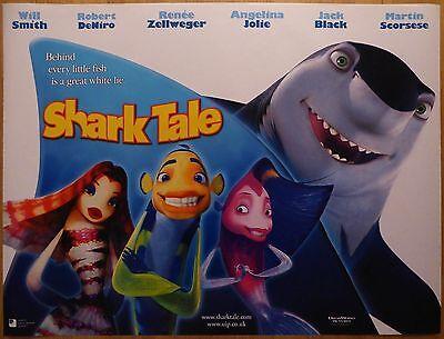 Shark Tale 2004 Original Uk Quad Film Movie Poster Will Smith Robert De Niro Ebay