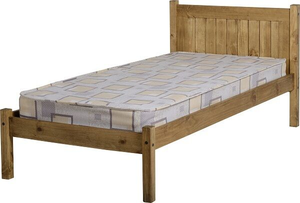 d61a8ff87179 Maya Distressed Wax Pine Wood 3ft Single Bed Frame for sale online ...