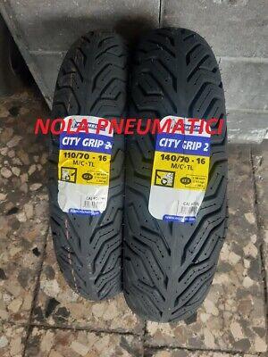 Coppia Pneumatici Gomme Michelin City Grip 110//70 16 52P 140//70 16 65P TL