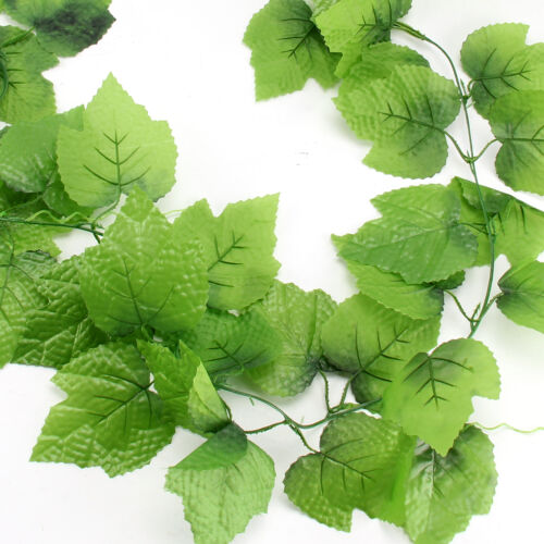 82ft Artificial Good Ivy vine faux Leaf Garland Plants Fake Foliage Green Home