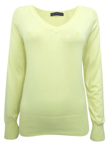 6 8 10 12 14 16 18 M/&S LADIES WOMENS COMFY HIGH QUALITY V NECK Jumpers