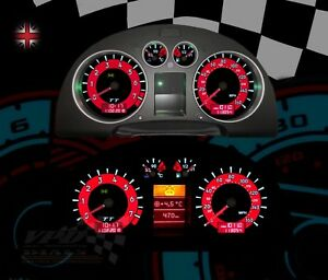 Details about Audi TT 225-Quattro Roadster Speedometer dash bulb lighting  upgrade dial kit