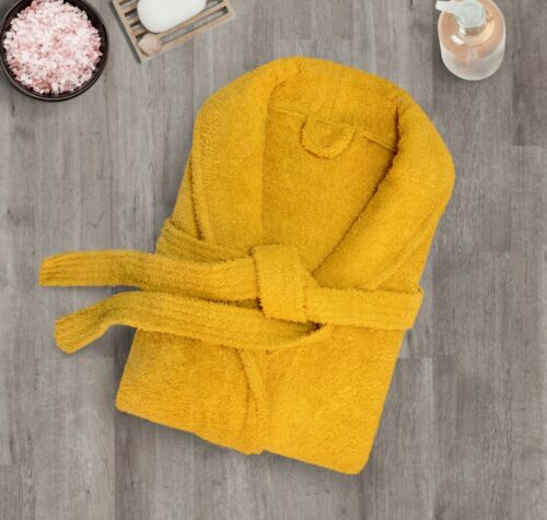 Luxury Unisex Terry Toweling Bath Robe Mens /& Ladies Collar Shawl Dressing Gown