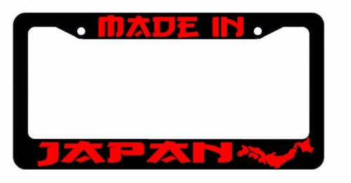 Made In Japan State JDM Racing Drifting Dope Low RED Art License Plate Frame