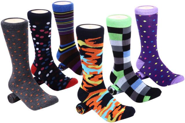 542fd51edf7b 6 Pack Mens Dress Socks Fun Colorful Socks for Men Cotton Funky ...