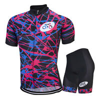 Men's Cycling Jersey & Shorts Sets Outdoor Sports Wear Kits Cycling Team Clothes