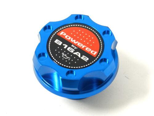BLUE BILLET CNC RACING ENGINE OIL FILLER CAP HONDA CIVIC DEL SOL CRX B16A2