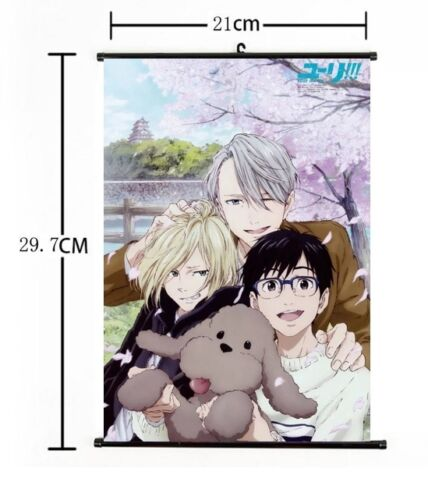 "Hot Japan Anime Yuri!! on Ice Victor Poster Wall Scroll Home Decor 8/""×12/"" AA"