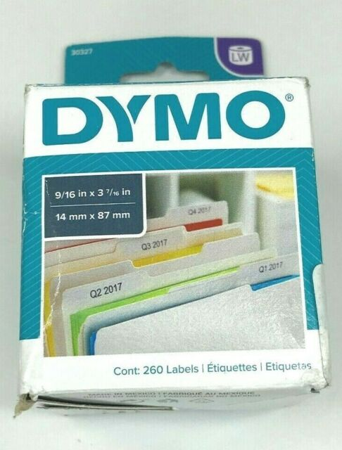 18 Rolls Dymo Compatible 30324 Thermal Print File Folder Tag Internet Postage eBay 400 Labels per Roll White