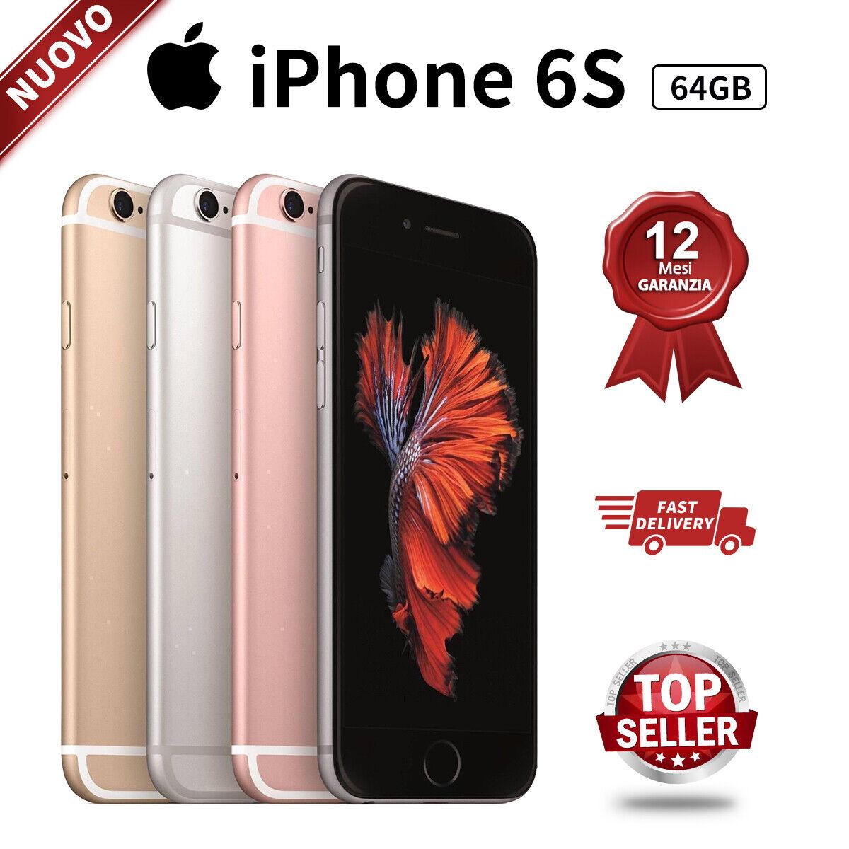 iPhone: Nuovo Apple iPhone 6s 64GB Grigio Siderale Oro Rosa Oro Silver Smartphone 24Mesi