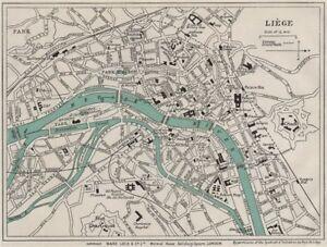 image is loading liege vintage town city plan belgium ward lock