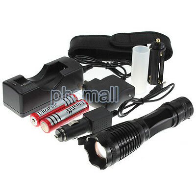 UltraFire 10000 Lumen CREE XM-L T6 LED 2xFlashlight Torch Zoomable 18650 Charger