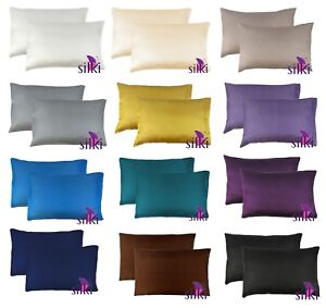 1-PAIR-100-MULBERRY-25-momme-Silk-2-sides-Pillowcase-cover-STANDARD-51x66cm