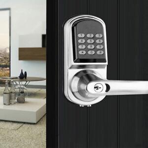front door locks keyless electronic locks image is loading electronicentrydoorlockkeylessdigitalkeypadsecurity electronic entry door lock keyless digital keypad security home code