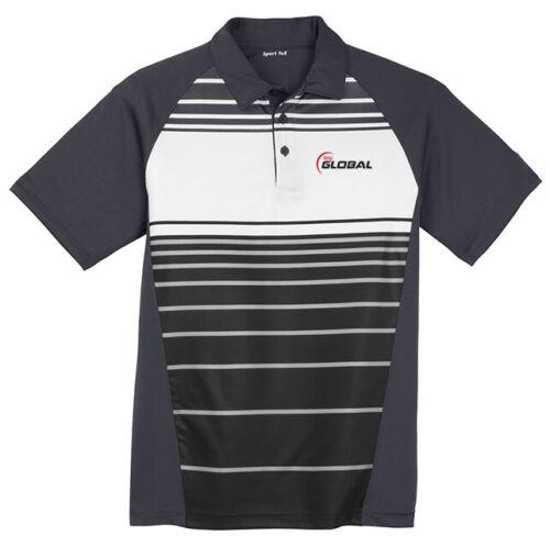 900 Global Men/'s Versus Performance Polo Bowling Shirt Sublimated Black