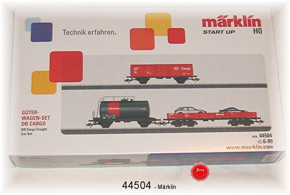 Märklin 44504 Güterwagen-Set Cargo der DB AG 3-teilig  NEU in OVP