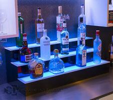 40 3 Step Tier Led Lighted Shelves Illuminated Liquor Bottle Display Free Ship