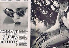 Coupure de presse Clipping 1962 Sue Lyon   (4 pages)