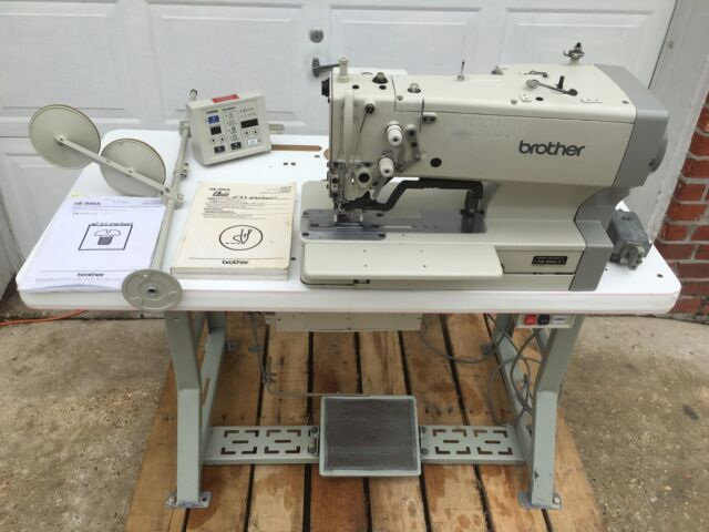 Brother He40a40 Electronic Button Hole Machine EBay Enchanting Brother Button Sewing Machine