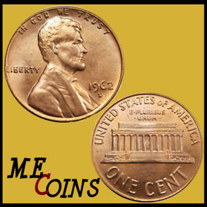Lincoln Memorial Cent 1962 D