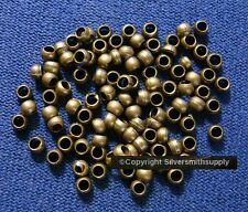 Bronze crimps plated steel 2.5x2mm round small crimp beads 100 pcs fps079