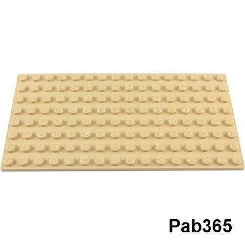 Lego plaque beige 8x16 Neuve Tan plate 8x16 NEW REF 92438
