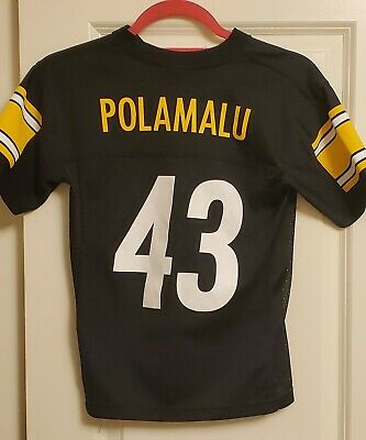 NFL PITTSBURGH STEELERS TROY POLAMALU JERSEY TEAM APPAREL SIZE YOUTH (S) Small | eBay