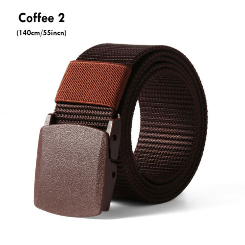 Men/'s Nylon Belt Lengthen Classic Casual Outdoor Military Tactical Waist Belts~