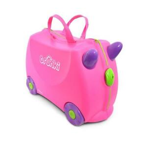 NEW TRUNKI RIDE ON SUITCASE TOY BOX CHILDREN KIDS LUGGAGE - PINK TRIXIE