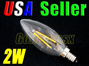 120V AC 5W Warm White LED E12 Base Candelabra Candle Light Bulb