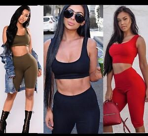 Mujer Vestido Cenido Shorts Muy Cortos Fiesta Pantalones Conjunto Para Hogar Ebay