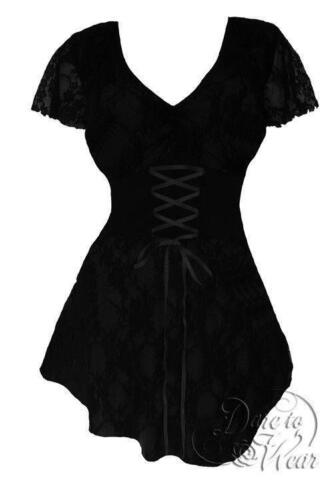 Dare To Wear Victorian Gothic Plus Size Sweetheart Corset Top in Black
