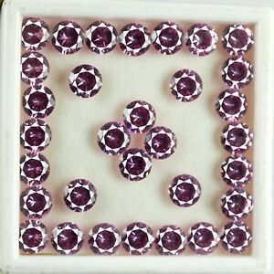 77 Ct/32 Pcs Pink Sapphire Natural Round Gemstone Lot Best Deal AGI Certified