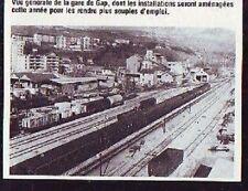 1981  --  VUE GENERALE DE LA GARE DE GAP   P535