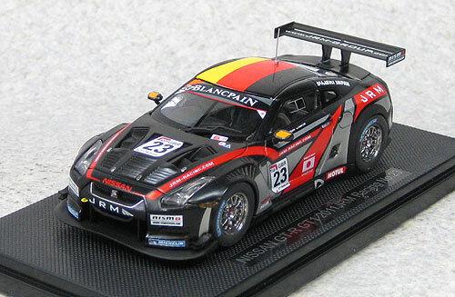 Ebbro 44713 Nissan GT-R GT1 GT1 GT1 2011 JRM Racing  23 (negro) Escala 1 43 38758d