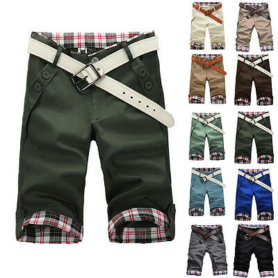 New Fashion Mens Casual Korean Stylish Short Pants Sport Cropped Trousers