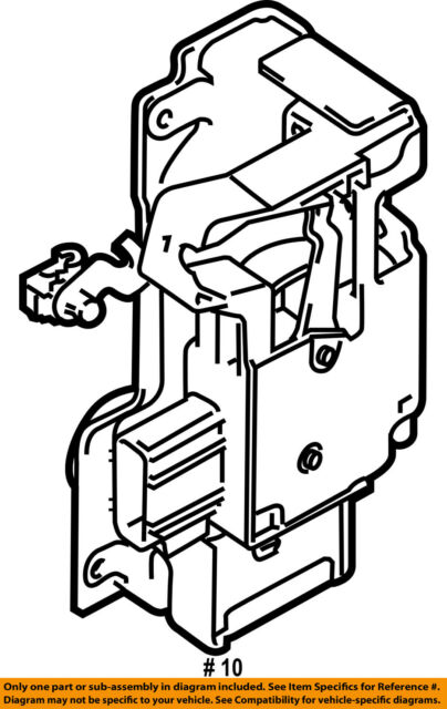 Ford Oem Door Latch Assembly 9t1z6121812b Image 10 For Sale Online