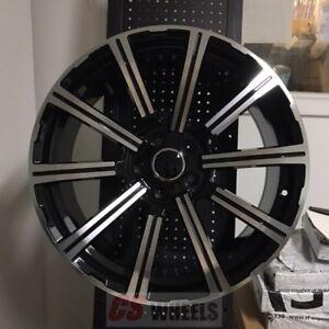 20 Presitge Style Black Wheels Rims Fits Audi B5 B6 B7 B8 A4 A3 A6