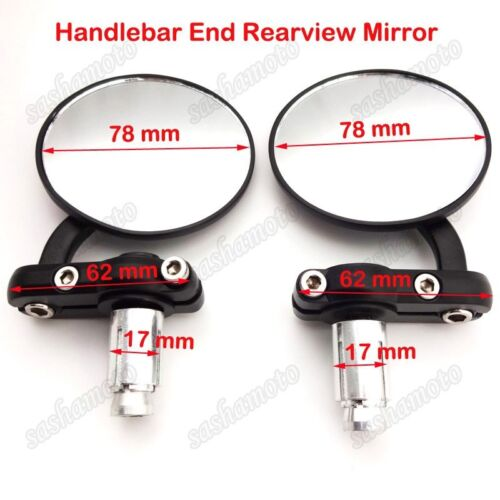 "Left Right Alloy Rearview Mirror 7//8/"" Handlebar Dirt Motor Bike ATV Motorcycle"