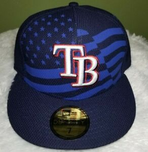 Tampa-Bay-Rays-2015-July-4th-stars-amp-stripes-USA-New-Era-59Fifty-Size-7-cap-hat