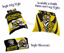 Richmond Tigers 2019 AFL Quilt Cover Doona Single Double Queen King Pillowcase