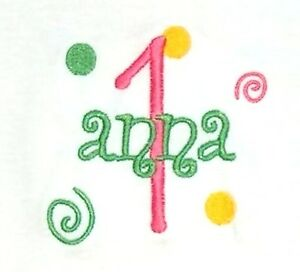 Personalized 1st or ANY Birthday NAME AGE Polka Dots for Girl Boy T Shirt GIFT