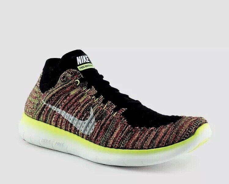 Nike Free Run FLYKNIT OC Multi-color SIZE Men's 11.5 BRAND NEW