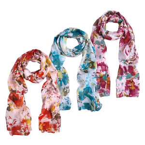 Chic Ombre Watercolor Snowflake Scarf Different Colors Available