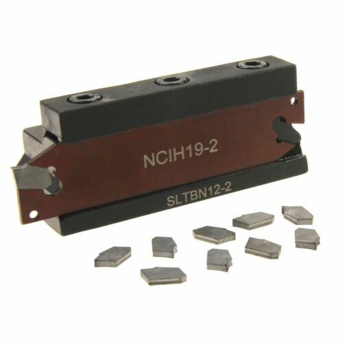 Cut-Off Blade 1/2 Positive Stop Set 10 pc GTN-2 C5 Insert Tool Holder NCIH19-2
