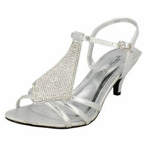 Anne-Michelle-F1R0652-Ladies-Silver-Shoes-Diamante-Frontage-R21A