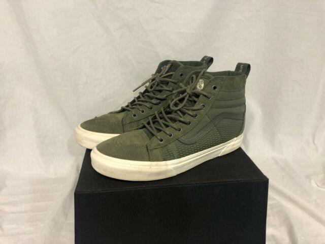 Vans Sk8 Hi Mte Mens Trainers Black Green Shoes 10 Uk For Sale Online Ebay