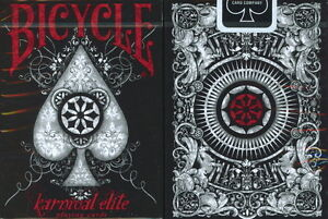 INVISIBLE KARNIVAL ELITE BICYCLE LIMITED ED DECK PLAYING CARDS GAFF MAGIC TRICKS