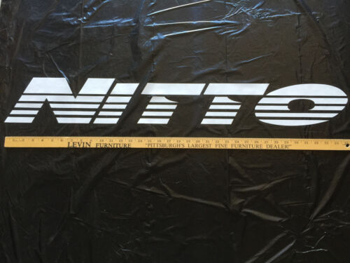 """NEW LARGE White Nitto Tires Windshield Vinyl Sticker Decal 36/"""" x 5/"""""""