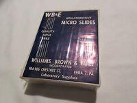 Micro-slides, Non-corrosive Micro Slides, By Wb&e , Vintage , 1970s